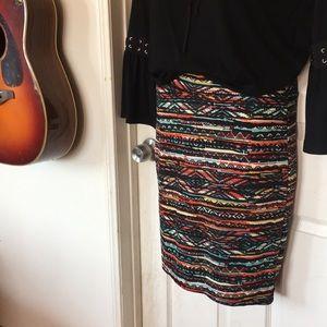 LuLaRoe Cassie Stretchy Pencil Skirt sz S NEW